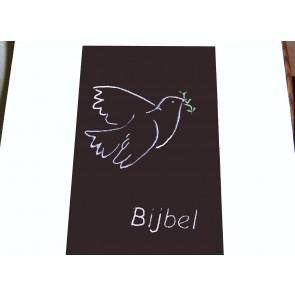 Hoes Huisbijbel 16x24 bruin met duif wit Messiaan H-1624022