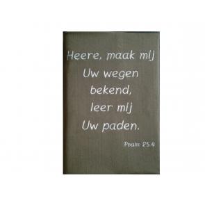 Hoes Huisbijbel 16x24 lichtbruin met tekst Psalm 25:4 in wit H-1624036 Messiaan