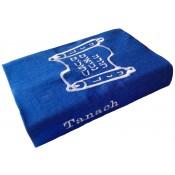 Hoes voor Tanach Sja'ar-Jongbloed 14x22 blauw met witte borduring Tanach